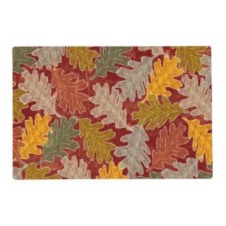 Autumn Oak Leaves Placemat
