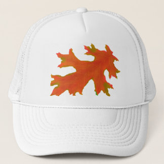 Autumn oak leaves trucker hat