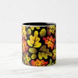autumn oak leaves Two-Tone coffee mug