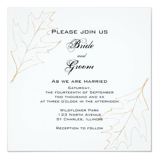 Autumn Oak Leaves Wedding Invitation