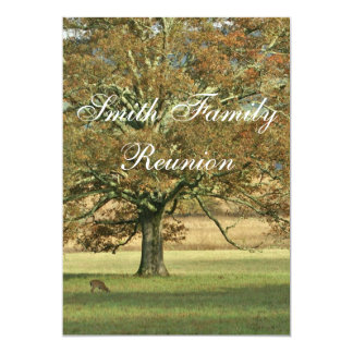 Autumn Oak Tree Family Reunion 5x7 Paper Invitation Card