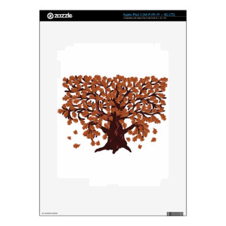 Autumn oak tree iPad 3 decal