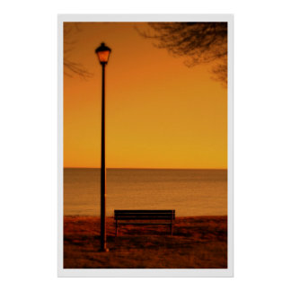 Autumn Ocean View Poster