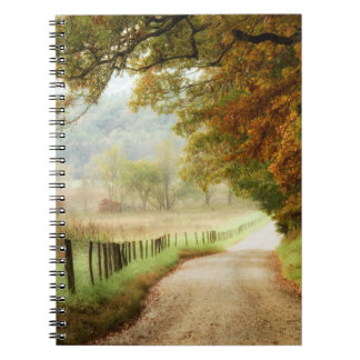 Autumn on a Country Road Spiral Notebook