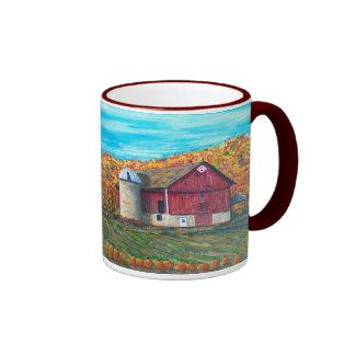 Autumn on an Illinois Farm Ringer Coffee Mug