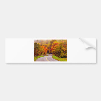 autumn on blue ridge parkway bumper sticker