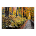 Autumn on Long Pond Road New Hampshire Poster