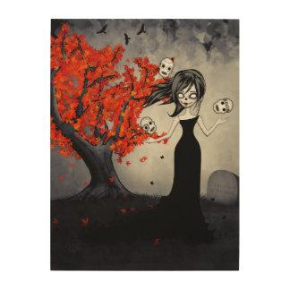 Autumn On Melancholy Hill Wood Print