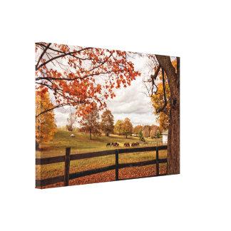 Autumn on the Horse Farm Canvas Print