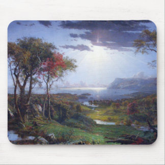 Autumn - On the Hudson River by Jasper Cropsey Mouse Pad