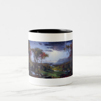 Autumn - On the Hudson River by Jasper Cropsey Two-Tone Coffee Mug