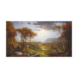 Autumn On the Hudson River Canvas Print