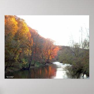 Autumn on the Kokosing Poster