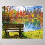Autumn On the Lake Poster