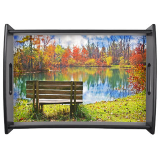 Autumn On the Lake Serving Tray