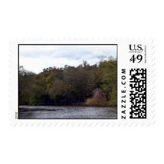 Autumn on the River Postage