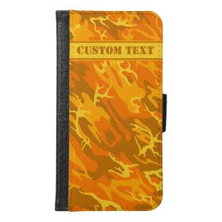 Autumn Orange Camo Smartphone Wallet w/ Text