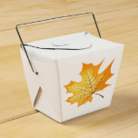 Autumn Orange Leaf Rustic Country Wedding Party Favor Box