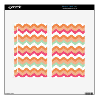 Autumn Orange Mixed Zigzag Skin For Kindle Fire