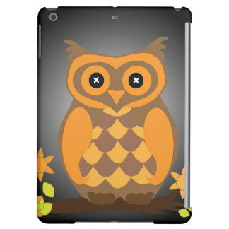 Autumn Orange Owl Cover For iPad Air