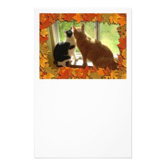 Autumn Orange Tabby Cats Stationery