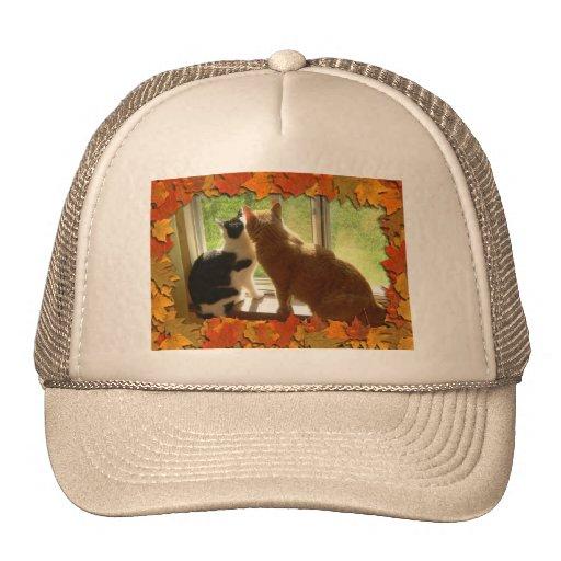 Autumn Orange Tabby Cats Trucker Hat