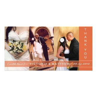 AUTUMN ORANGE UNION   WEDDING THANK YOU CARD