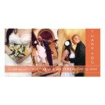 AUTUMN ORANGE UNION   WEDDING THANK YOU CARD PHOTO CARD