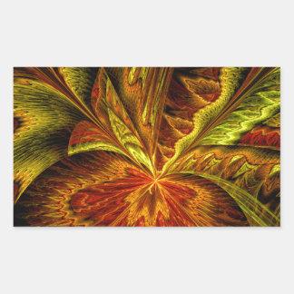 Autumn Orchid Abstract Fractal Art Rectangular Sticker