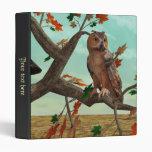 Autumn Owl 3 Ring Binder