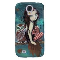 Autumn Owl and Fairy Fantasy Art Galaxy S4 Cover