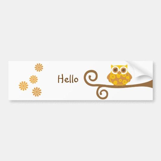 Autumn Owl Bumper Sticker
