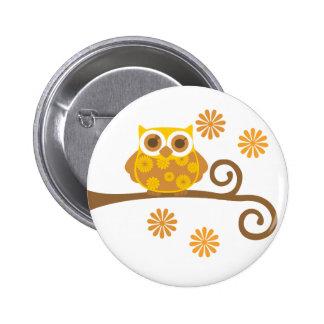 Autumn Owl Button