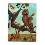 Autumn Owl Dry Erase White Board