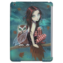 Autumn Owl Fairy Fantasy Art Case For iPad Air