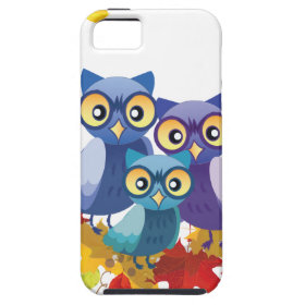 Autumn Owl family Case For iPhone 5/5S