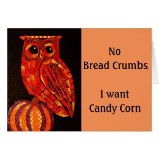 Autumn Owl Greeting Card