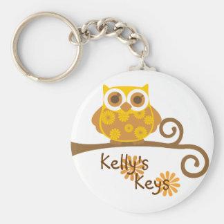 Autumn Owl Keychain