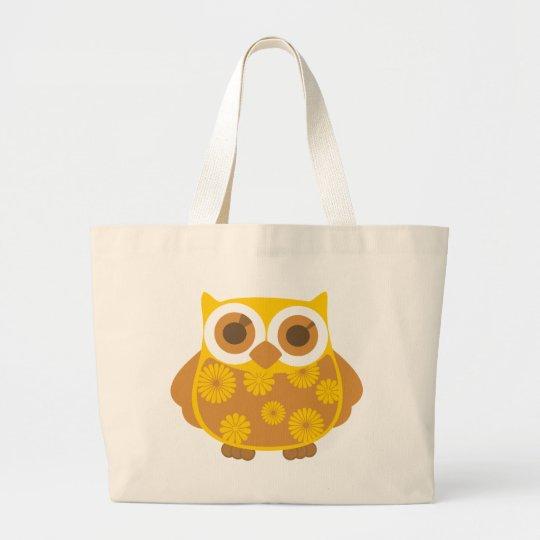 Autumn Owl Large Tote Bag