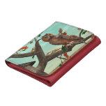 Autumn Owl Leather Tri-fold Wallet