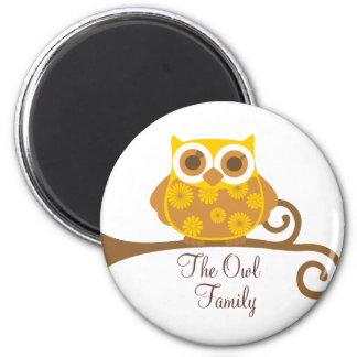Autumn Owl Refrigerator Magnets