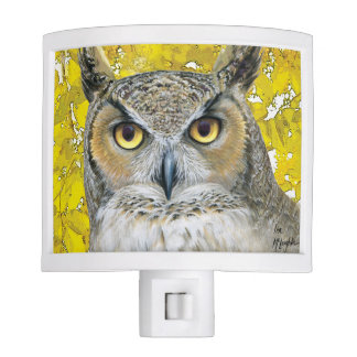 Autumn Owl Night Light