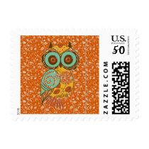 Autumn Owl Postage