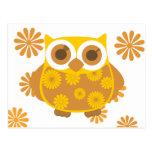 Autumn Owl Postcard