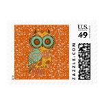 Autumn Owl Stamp