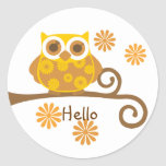 Autumn Owl Sticker