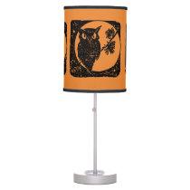 Autumn Owl Table Lamp