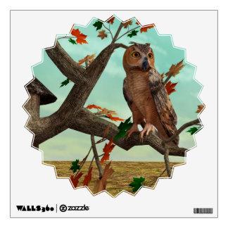 Autumn Owl Wall Decal