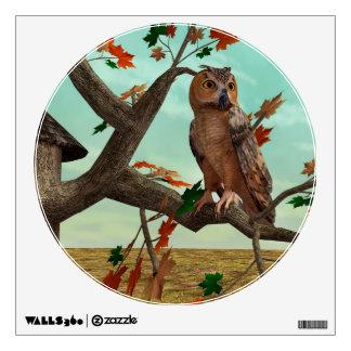 Autumn Owl Wall Sticker