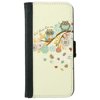 Autumn Owl Wallet Phone Case For iPhone 6/6s